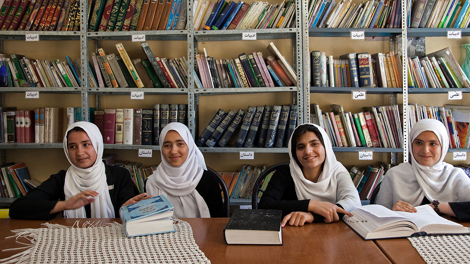 Students at the Female Experimental High School, Herat, Afghanistan