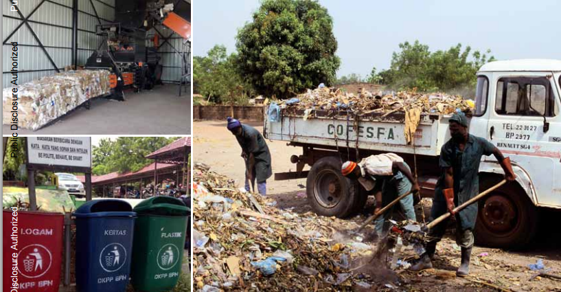 municipal solid waste Definition of municipal solid waste: all types of solid waste generated by households and commercial establishments, and collected usually by local government bodies.