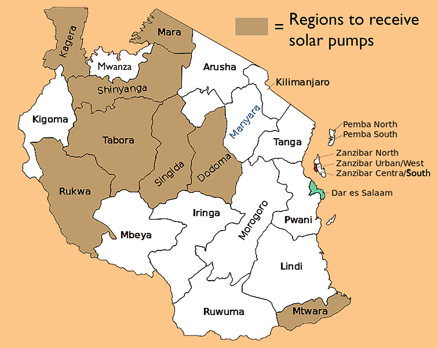 Tanzania Regions Map