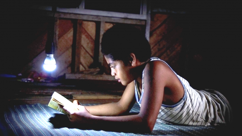 Solomons Electricity - Child Reading
