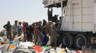 Trash Pickers in unregiulated dumps - West Bank