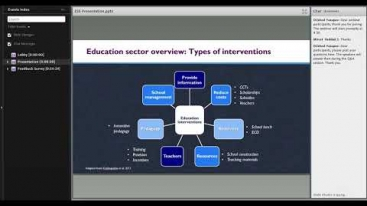 Embedded thumbnail for Innovations in Development Finance Webinar - Education Scoping Study