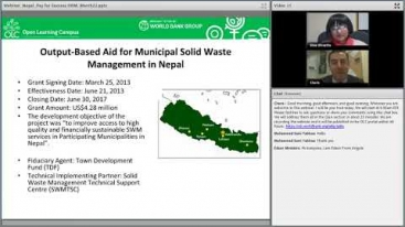 Embedded thumbnail for Innovations in Development Finance Webinar: Pay for Success in Solid Waste Management Results-Based Financing