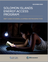 Cover Solomon Islands Case Study GPRBA
