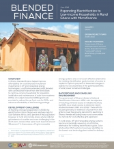 World Bank - Ghana - Blended Finance - Solar Home Systems