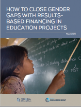 Cover - Closing Gender Gaps in Education Projects with RBF