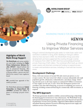 World Bank - Blended Finance - Kenya Water